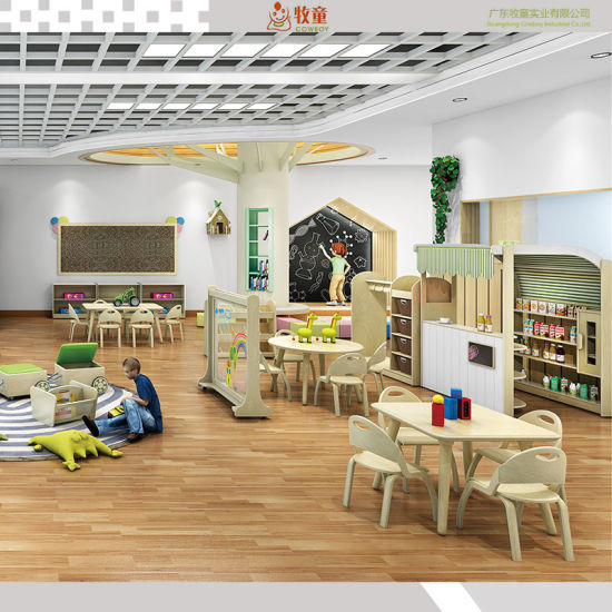 New Design Plywood Material Nursry School Desk and School Furniture for Educational Children