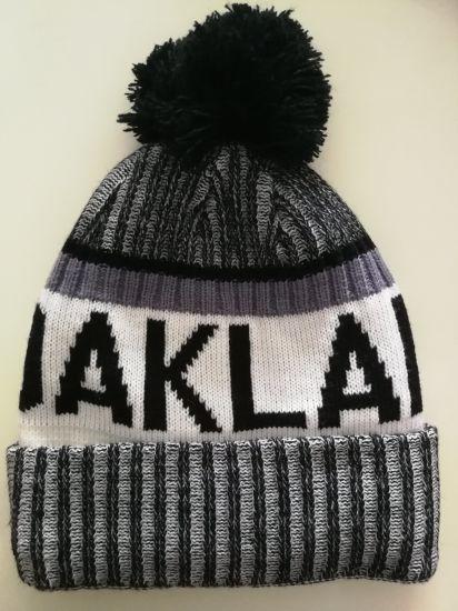 China USA Football Team Oakland Ribbed Beanie Knit Cap Hat Warm ... 4f3ef4669c9