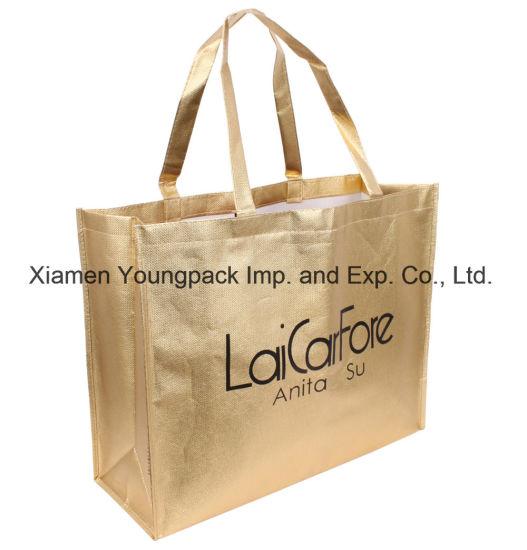 Fashion Custom Imprinted Promotional Gold Metallic Tote Bag. Get Latest  Price 7b0fcd493827e