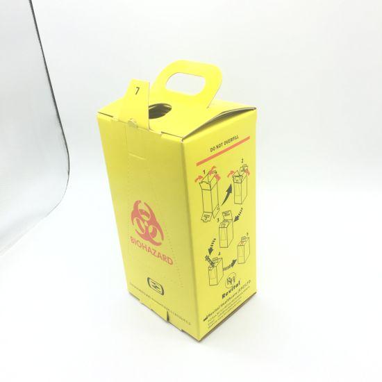 Customized Logo Hospital Wholesale Corrugated Paper Medical Safety Box Safety Box for Syringe