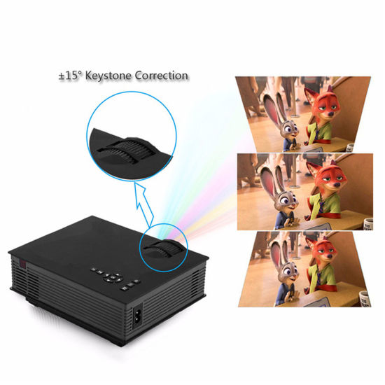 Factory with UC46 Portable LED Projector Full HD 1080P Cinema Theater PC and Laptop 1200lumens 2.4G WiFi pictures & photos