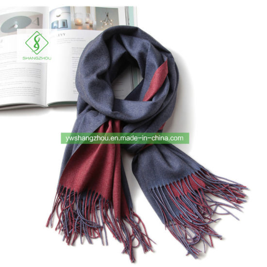 Fashion Double-Sided Plain Scarf with Tassel Winter Lady Cashmere Shawl