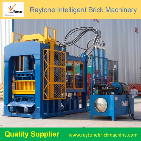 QT6-15 Automatic Hydraulic Hollow Block Machinery Solid Color Paver Brick Making Machine
