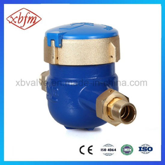 Multi-Jet Liquid-Sealed Vane Wheel Brass Water Meter pictures & photos