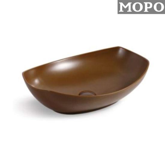 Brown Color Bathroom Accessories Wash Hand Ceramic Basin