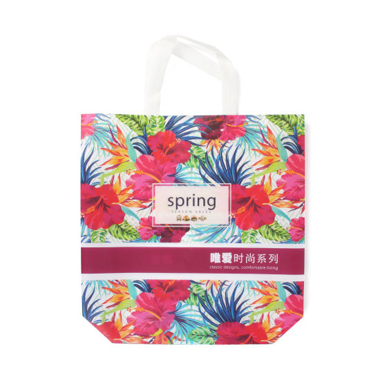 Advertising Laminated Ultrasonic Non Woven Shopping Tote Bags