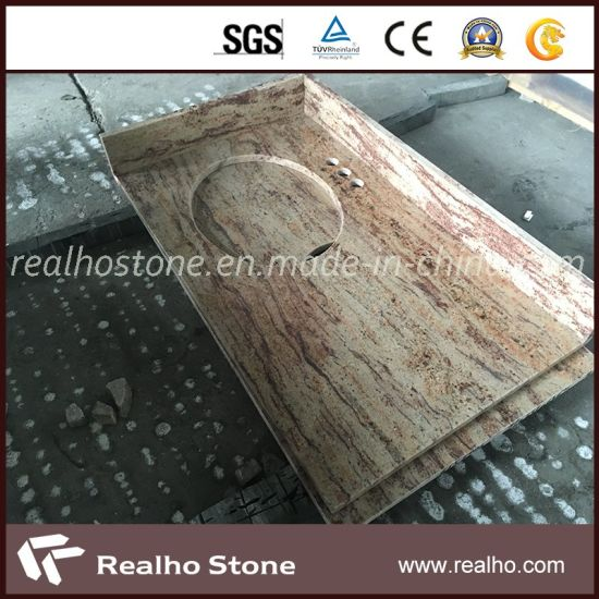 Orlando Yellow/Gold Granite Kitchen Countertops for Us Market