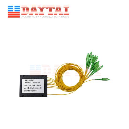 Single Mode Fiber Optical ABS Box Type 1X8 Coupler PLC Splitter