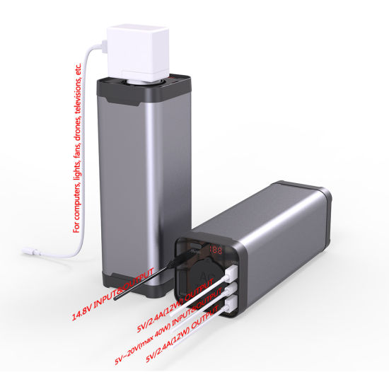 Portable Outdoor Mini UPS 40800mAh Power Supply AC110V 220V Output Pd Power Bank for Laptop