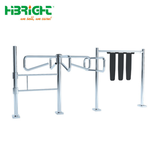 304 Stainless Steel Bridge-Type Swing Flap Turnstle Gate and Access Control Turnstile Barrier Gate