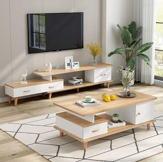 Tv Cabinet Tea Table Combination Nordic, Tv Stand Designs For Living Room
