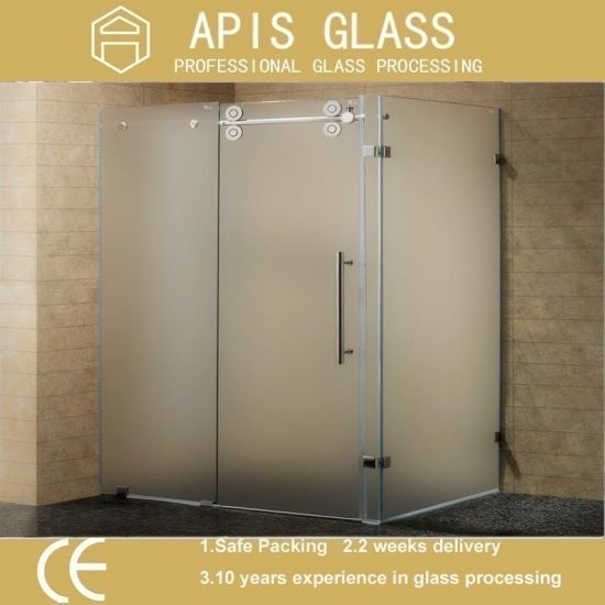 China Colored Or Frosted Printing Glass Acid Etched Tempered Glass