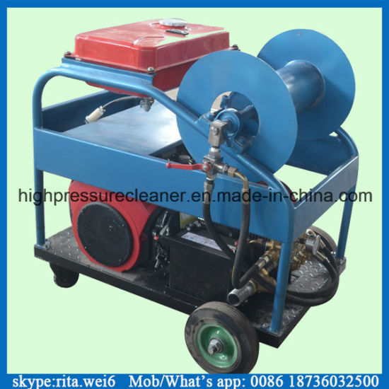 300mm Drain Pipe Cleaning Machine Gasoline High Pressure Washer