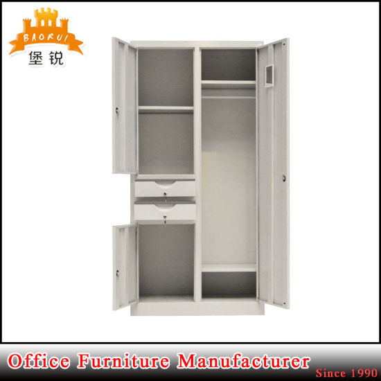 2 Door Hanging Clothes Metal Storage Cabinet Lockers