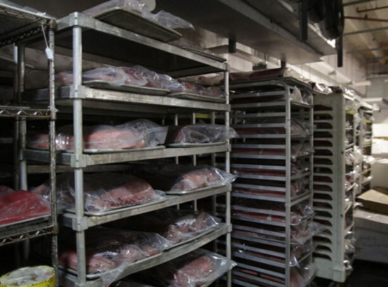 Fish Freezer Frozen Fish Seafood Storage Freezing Chambers
