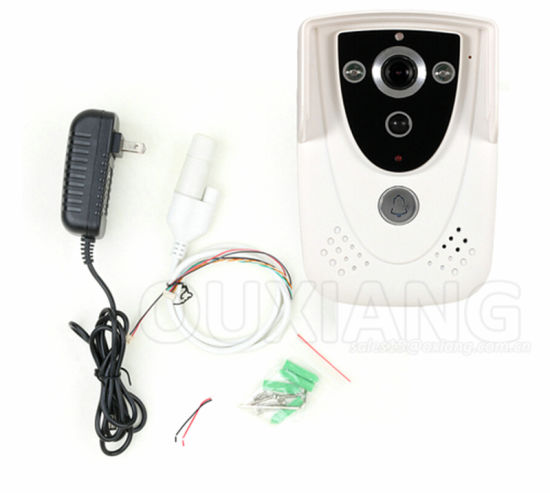 H. 264 720p WiFi Video Door Phone, 2.4G Doorbell WiFi, Support Wireless Unlock Ios Android APP pictures & photos