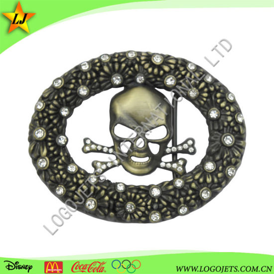 3D Hot Sale New Customized Western Style Belt Buckle for Leather with Shining Diamond