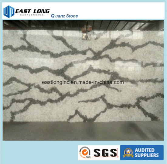 Beautiful Marble Color Quartz Stone Solid Surface for Vanity Top/ Table Top/ Counter Top/ Building Materials pictures & photos