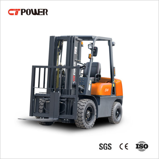 Durable Diesel Forklift Truck at 1.5/1.8/2.0/2.5/3.0/3.5 Ton with Chinese Engine and Cabin