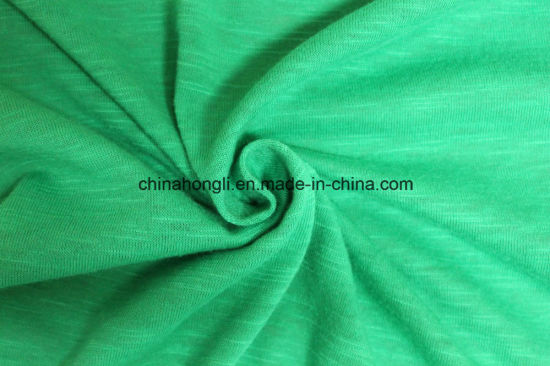 T C 65 35 160gsm Slub Yarn Single Jersey Knitting Fabric For Sportswear