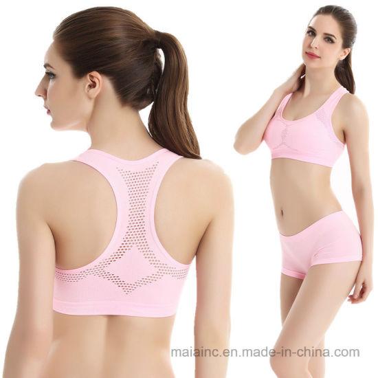 54ed876958 China Factory Wholesale Comfortable Seamless Sports Bra Set - China ...