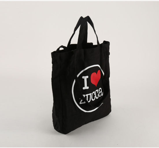 Wholesales Cheap Custom Black Shopping Drawstring Business Bags for Packaging pictures & photos