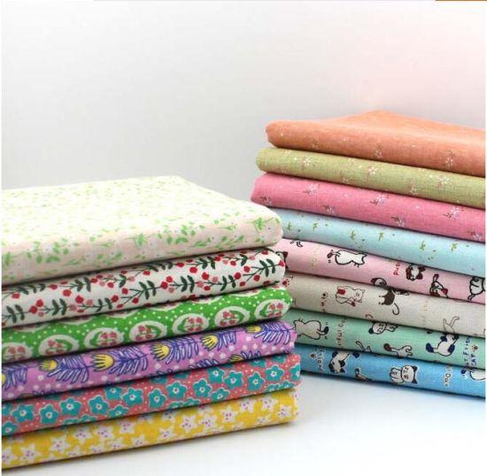 40%Cotton 60%Linen Printing Fabric for Children Wear Suit Dress