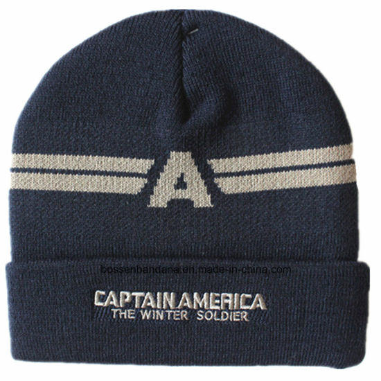 Customized Logo Embroidered Acrylic Wool Winter Ski Sports Warm Knitted Beanie Hat pictures & photos