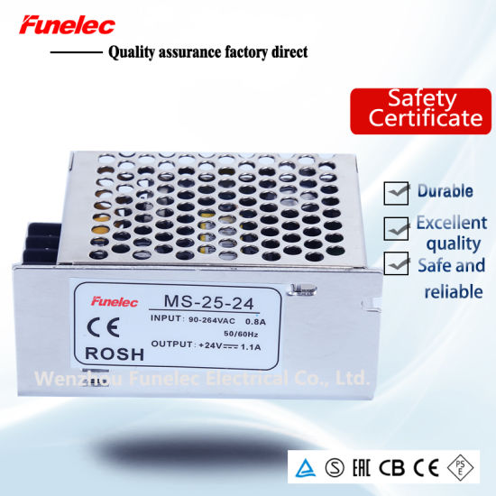 China Mini SMPS Power Supply Ms-25-24 24V DC Voltage Regulator ...