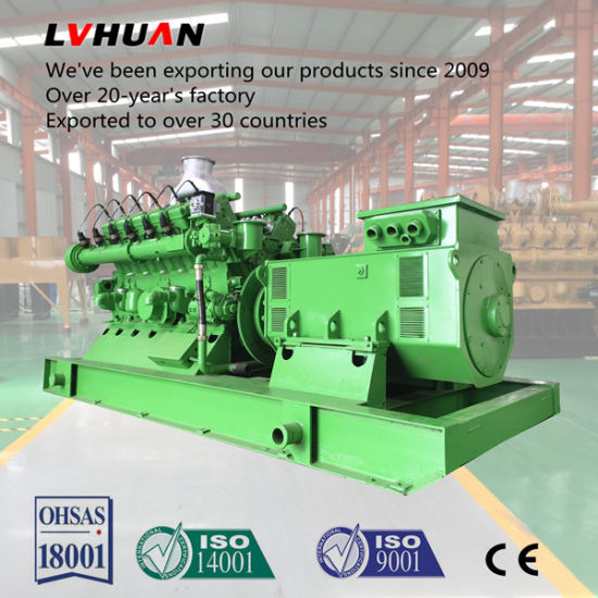 electric generator power plant three phase power 600kw continuous power plant natural gas engine electric generator china