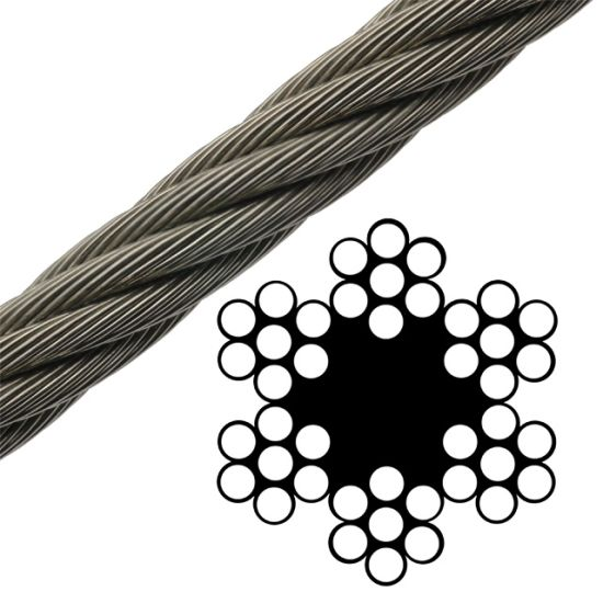China 6X7 FC Bright/Stainless Steel /Galvanized Wire Rope Sand Line ...
