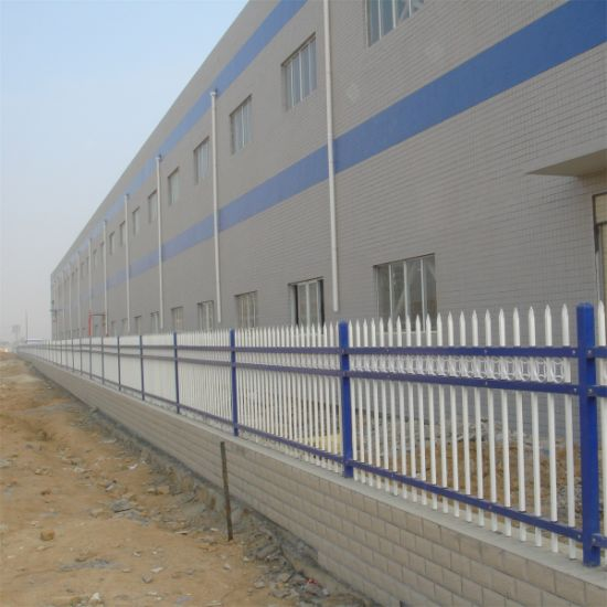 China Outdoor Galvanized Steel Pipe Fence/Garden Metal Fence - China