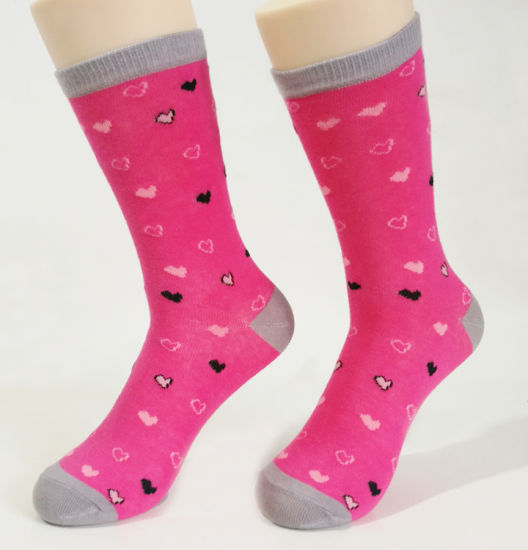 Woman Sock Crew Sock Cotton Socks pictures & photos