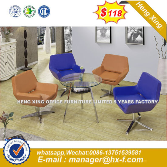 Brown Color Reception Leisure Sofa Chair Conference Meeting Furniture (HX-SN8016) pictures & photos