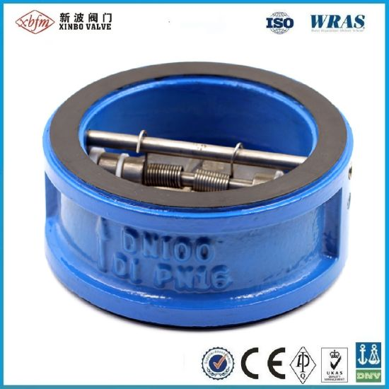 Pn16 Cast Iron Wafer Type Dual Plate Check Valve/Wafer Type Dual Disc Check Valve pictures & photos