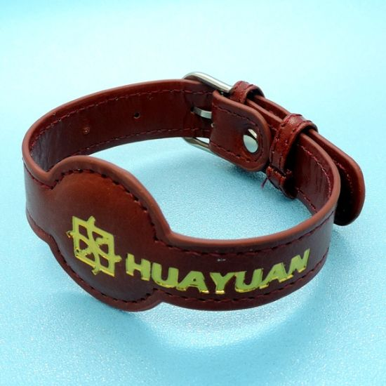 Fashion design RFID PASSIVE NFC NTAG213 Leather Bracelet pictures & photos