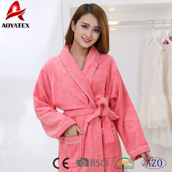 d8e670a33a China Hot Selling Fancy Cotton Women Thick Bathrobe - China Bathrobe ...