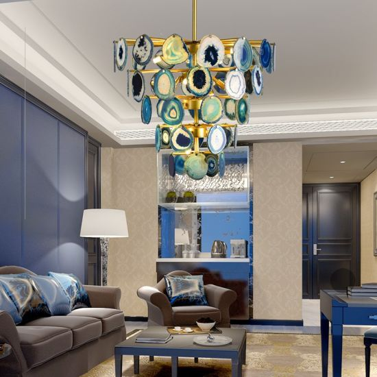 Post-Modern Creative Personality Agate Light Luxury Living Room Chandelier
