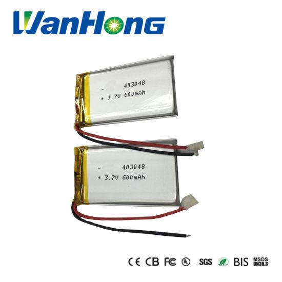 403048pl 600mAh 3.7V Rechargeable Lithium Li-ion Li-Polymer Battery for GPS Speaker