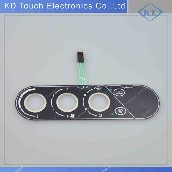 LED Push Button Embossed Membrane Keypad Switch with Nicomatic Connector