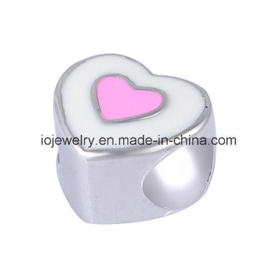Fashion Jewelry Soft Enamel Loving Heart Bead