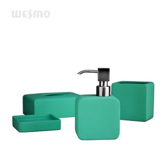 Green Rubber Oil Coated Bathroom Set