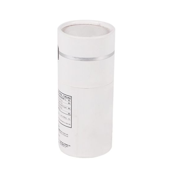 Custom Silver Foil Matte White Cylinder Packaging Round Tube Long Tube Boxes