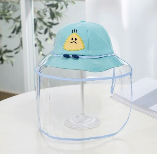 Baby Child Kids Boys Girls Men Women Baseball Prevention Cap Protective Hat Face Shield Hat Protector with Shield Plastic Cover