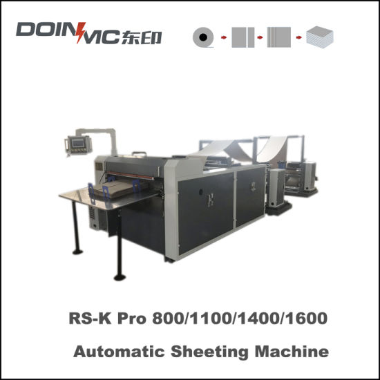Jumbo Roll Paper Sheet Cutting Machine with Receiver Table