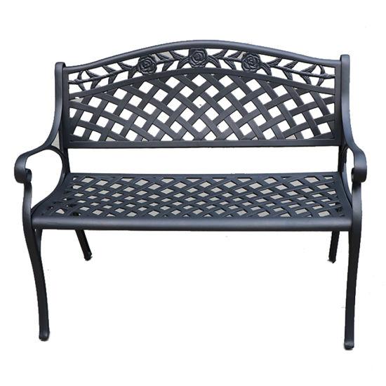 Cast Aluminium Outdoor Bench Iron, White Cast Aluminium Garden Bench