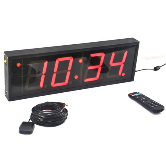 4 Inch 4 Digits LED Digital Wall Clock with Multi-Functions