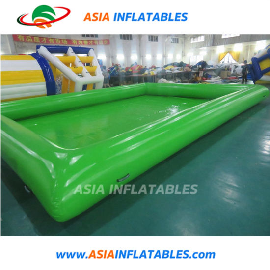 0.9 mm PVC Tarpaulin Green Inflatable Giant Water Pool pictures & photos