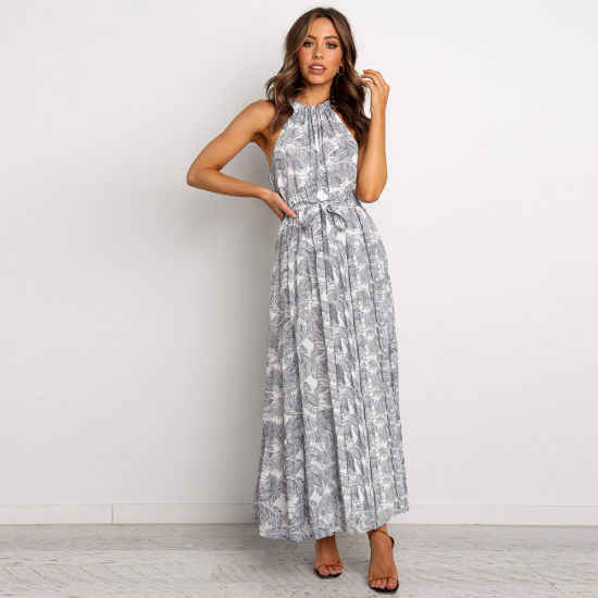 Printed Long Dress Floral Summer Casual Dress Women Clothes