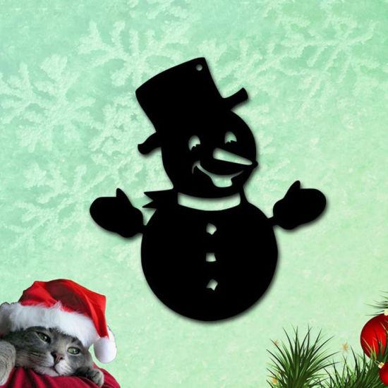 Customized Metal Wall Art Snowman Xmas Ornament Christmas Decoration